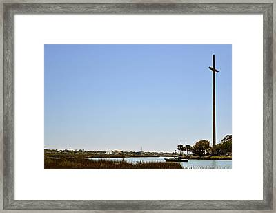Great Cross - Nombre De Dios - St Augustine Framed Print by Christine Till