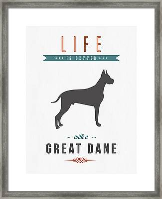 Great Dane 01 Framed Print by Aged Pixel