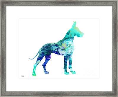 Great Dane 5 Framed Print by Luke and Slavi