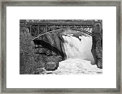 Great Falls In Paterson Nj Framed Print by Anthony Sacco