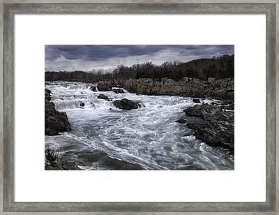 Great Falls Framed Print by Joan Carroll