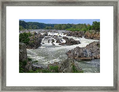 Great Falls Of The Potomac Framed Print by Olivier Le Queinec