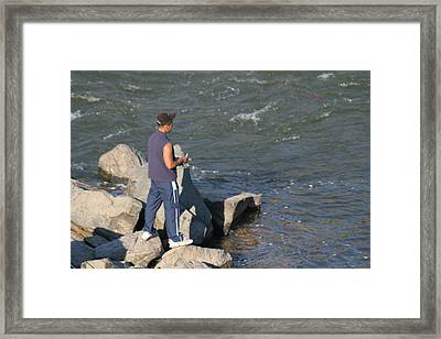 Great Falls Va - 121238 Framed Print by DC Photographer