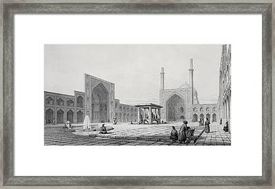 Great Friday Mosque In Isfahan Framed Print by Pascal Xavier Coste