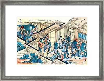 Great Gate New Yoshiwara 1811 Framed Print by Padre Art
