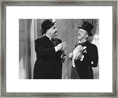 Great Guns, From Left Oliver Hardy Framed Print by Everett