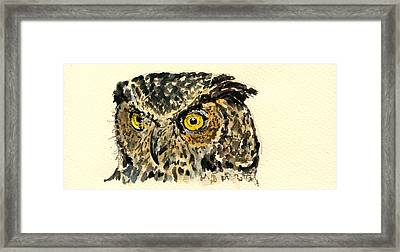 Great Horned Owl Framed Print by Juan  Bosco