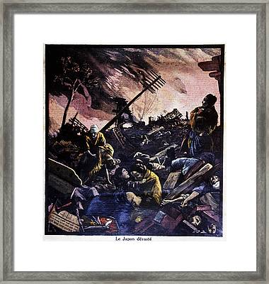Great Kanto Earthquake Framed Print by Cci Archives