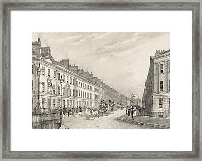 Great Pultney Street, Bath, C.1883 Framed Print by R. Woodroffe