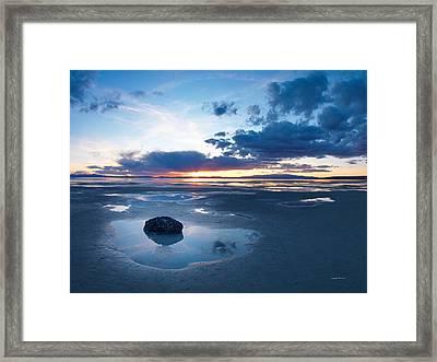 Great Salt Lake Framed Print by Leland D Howard