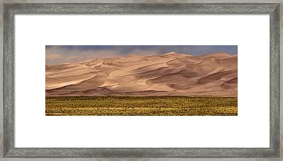 Great Sand Dunes In Colorado Framed Print by Dan Sproul