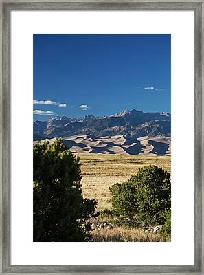 Great Sand Dunes National Park Framed Print by Jim West