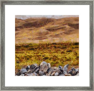 Great Sand Dunes National Park On Canvas Framed Print by Dan Sproul
