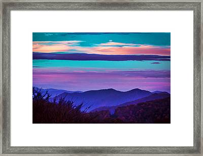 Great Smoky Mountain Sunset Painted Framed Print by Rich Franco