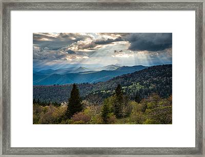 Great Smoky Mountains Light - Blue Ridge Parkway Landscape Framed Print by Dave Allen