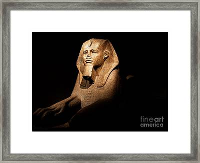 Great Sphinx Of Tanis Framed Print by Phill Petrovic