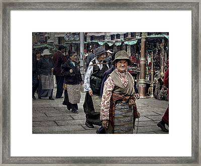 Great Weathered Faces Framed Print by Joan Carroll