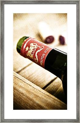 Great Wines Of Bordeaux - Chateau Mouton Rothschild Framed Print by Frank Tschakert