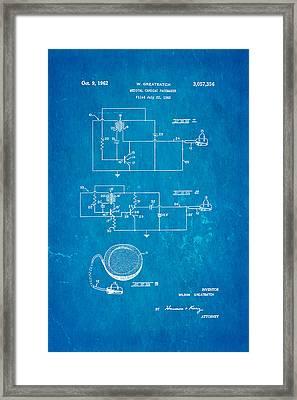 Greatbatch Cardiac Pacemaker Patent Art 1962 Blueprint Framed Print by Ian Monk