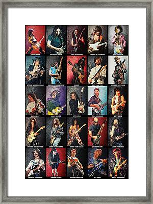 Greatest Guitarists Of All Time Framed Print by Taylan Soyturk