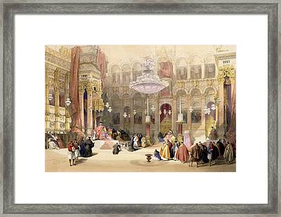 Greek Church Of The Holy Sepulchre Framed Print by David Roberts