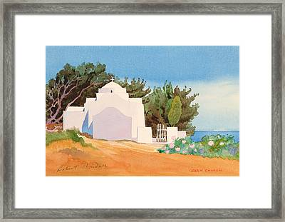 Greek Church Wc Framed Print by Robert Tyndall