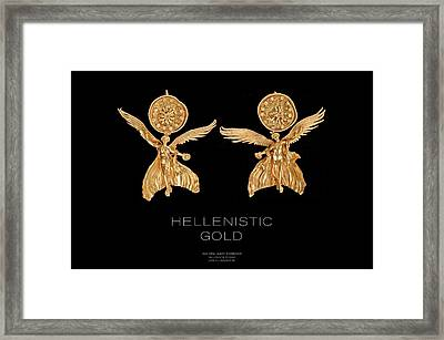 Greek Gold - Hellenistic Gold Framed Print by Helena Kay