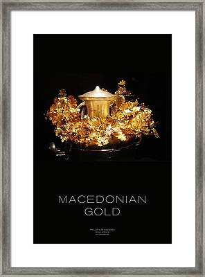Greek Gold - Macedonian Gold Framed Print by Helena Kay