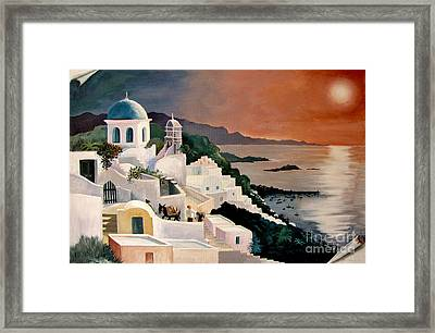 Greek Isles Framed Print by Marilyn Smith