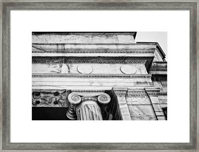 Greek Theatre 5 Bw Framed Print by Angelina Vick