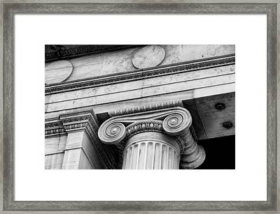 Greek Theatre 6 Bw Framed Print by Angelina Vick