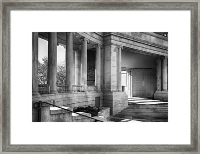Greek Theatre 7 Bw Framed Print by Angelina Vick