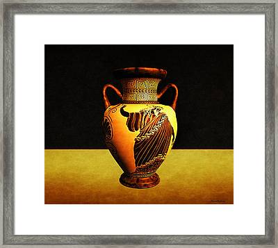 Greek Vase Framed Print by Ramon Martinez
