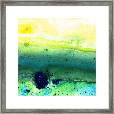 Green Abstract Art - Life Song - By Sharon Cummings Framed Print by Sharon Cummings