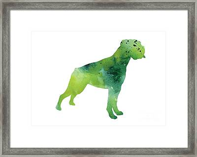 Green Abstract Boxer For Sale Framed Print by Joanna Szmerdt
