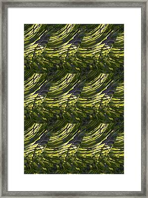 Green Abstract Framed Print by Sonali Gangane