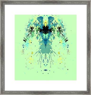Green Alien Framed Print by Dan Sproul