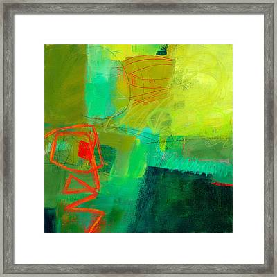 Green And Red #1 Framed Print by Jane Davies