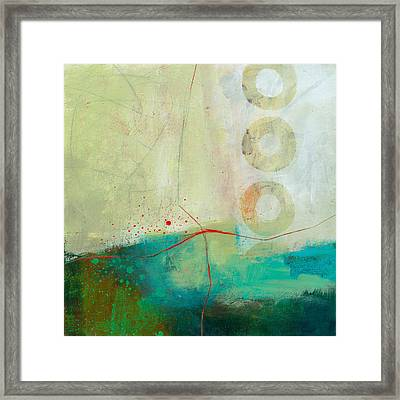 Green And Red 2 Framed Print by Jane Davies