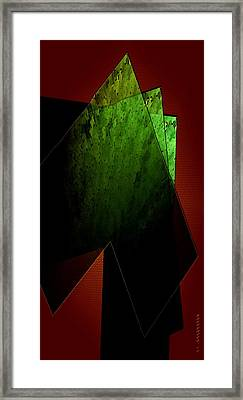 Green And Red Framed Print by Mario  Perez