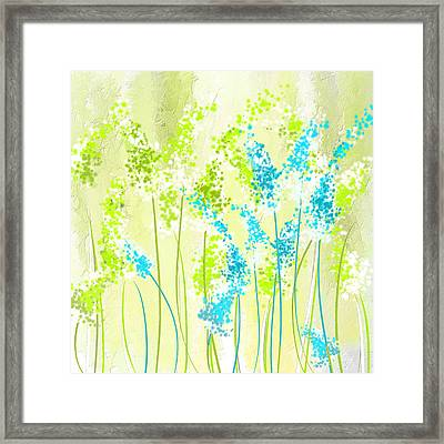 Green And Turquoise Framed Print by Lourry Legarde