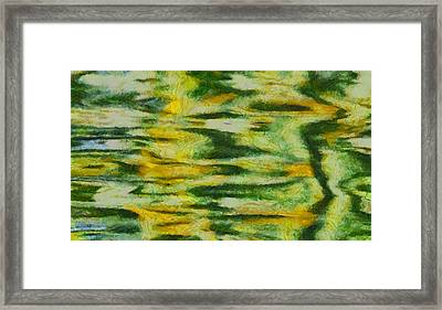 Green And Yellow Abstract Framed Print by Dan Sproul