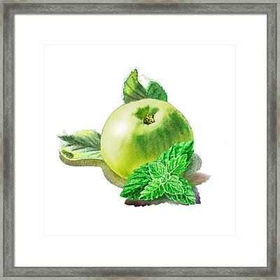 Green Apple And Mint Happy Union Framed Print by Irina Sztukowski