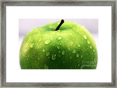 Green Apple Top Framed Print by John Rizzuto