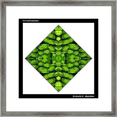 Green Banana Framed Print by Roberto Alamino