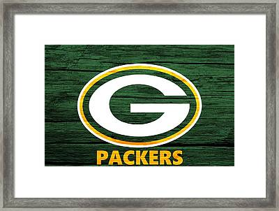 Green Bay Packers Barn Door Framed Print by Dan Sproul