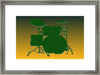 Green Bay Packers Drum Set Framed Print by Joe Hamilton
