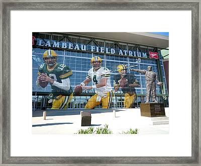 Green Bay Packers Lambeau Field Framed Print by Joe Hamilton