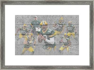 Green Bay Packers Team Framed Print by Joe Hamilton