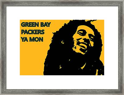 Green Bay Packers Ya Mon Framed Print by Joe Hamilton